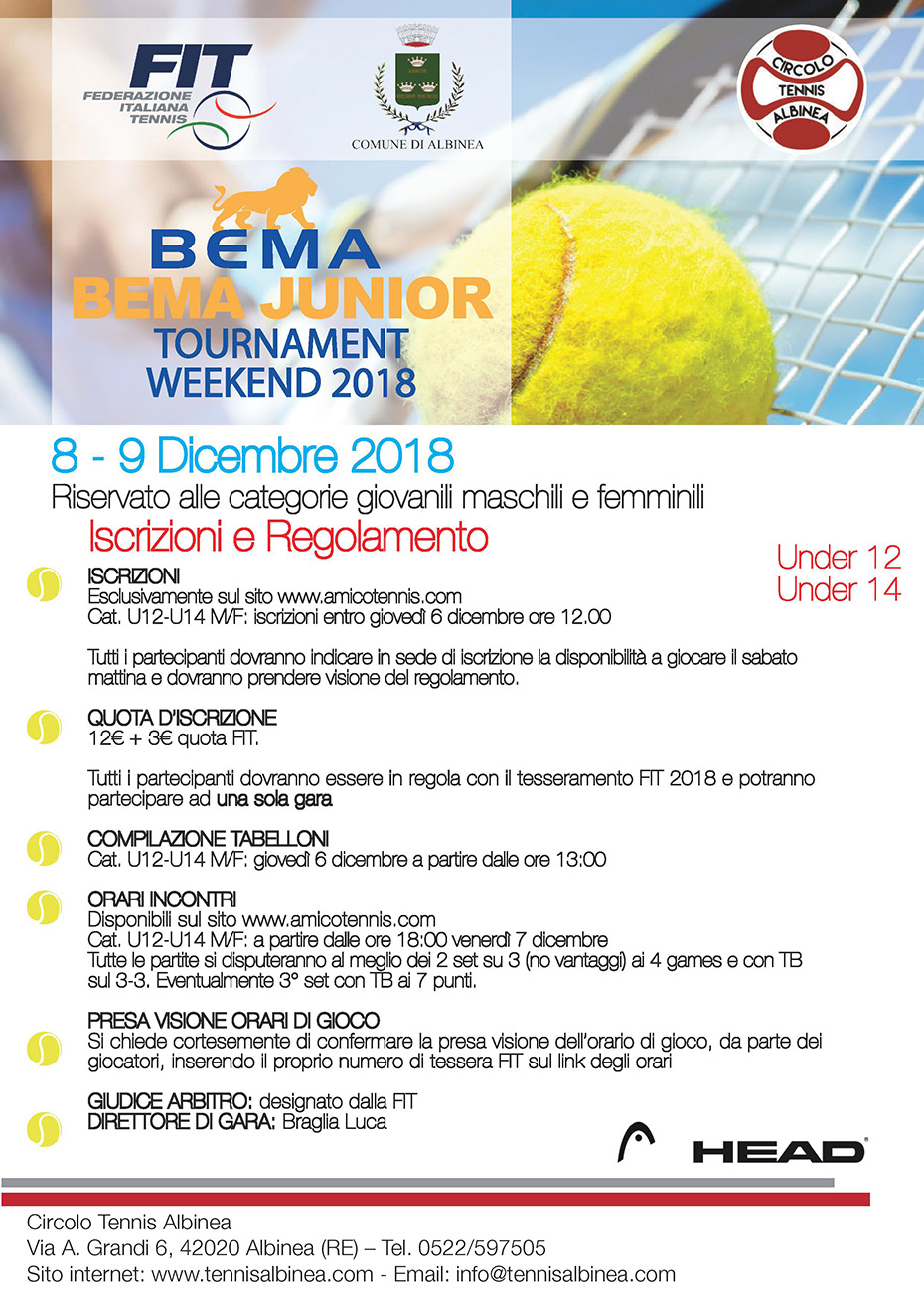 torneo Bema Junior 2018