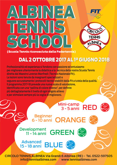 Albinea Tennis School 2017 2018 small